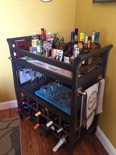 How To Turn A Old Crib To A Bar :: Hometalk