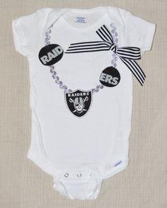 SALE Rylo NFL Oakland Raiders necklace onesie Oakland by RYLOwear, $13.60