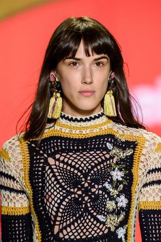 Desigual at New York Fashion Week Spring 2017 - (Details) Crochet                                                                                                                                                                                 More