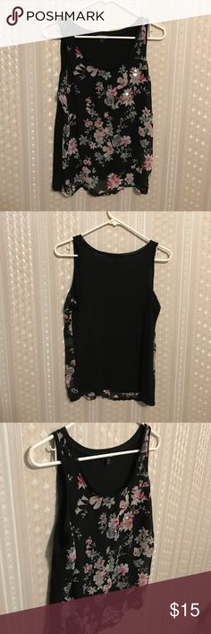 Floral tank top ❤ Very pretty! Only worn once :) please make an offer 😁👌🏻 Express Tops Tank Tops