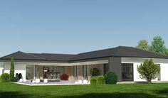 Modern Bungalow House, Bungalow Exterior, Bungalow Homes, Bungalow House Plans, Dream House Plans, Modern House Plans, 4 Bedroom House Designs, Bedroom House Plans, Single Storey House Plans