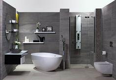 Dlažba z kolekce Stone Fusion (Dom), 45 x 90 cm, mat, cena 1 099 www. Beautiful Bathrooms, Bathroom Inspiration, Bathroom Ideas, Home And Living, Sweet Home, New Homes, Bathtub, Interior Design, Architecture