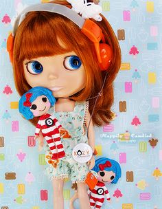 Custom Lalaloopsy Dolls: Thing 1 & Thing 2   por Happily Candied