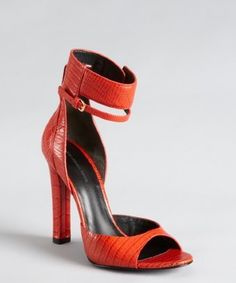 Alexander Wang tang red croc embossed...
