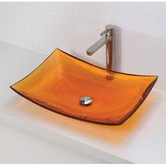 DECOLAV Incandescence Rectangular Vessel Bathroom Sink Sink Finish: Magma
