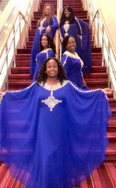 These photos will have you wanting to book a flight. College Uniform, Phi Beta Sigma, Sorority Outfits, Dressed To The Nines, Sorority And Fraternity, Greek Life, Amazing Photos, Royal Blue, Ball Gowns