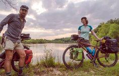 Couple Biking Across USA Collecting Trash Along Their Way
