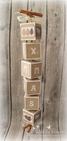 Stempeleinmaleins: Weihnachtswürfel ~ x-mas cubes