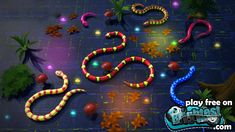 Snakes is a version of famous Slither. Where you eat stuff, grow long, and kill other players. You can also customize the snake skins and textures. Have fun! Play Snake, Snake Game, Slither Io, Snakes, Online Games, Birthday Cakes, Have Fun, 3d, Texture