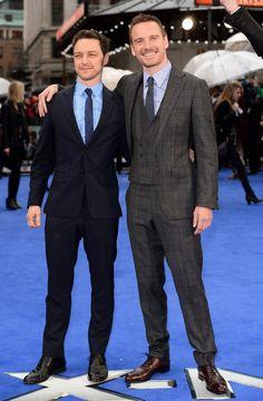 Pin for Later: Wie groß sind die Stars wirklich? James McAvoy = 170cm, Michael Fassbender = 183cm
