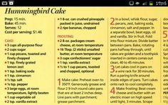 Hummingbird cake part 1