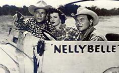 "I never saw this when I wanted to name our dog Nellie and it was suggested ""Nellie Belle?"" hehe The Roy Rogers Show - Roy Rogers, Dale Evans, Pat Brady, and Nellybelle Rogers Tv, Roy Rogers, Dale Evans, Tv Westerns, Thing 1, Lone Ranger, Western Movies, Old Tv Shows, Classic Tv"