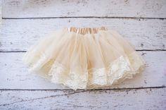 Baby Pettiskirt  lace tutu Tutu lace Pettiskirt  by PoshPeanutKids, $28.00