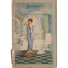 Vintage 1930s Standard Plumbing Fixtures Product Catalog Bathroom and Kitchen
