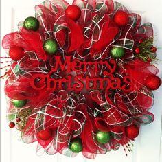 Holiday Deco Mesh Wreath