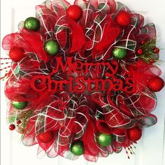 Holiday Deco Mesh Wreath