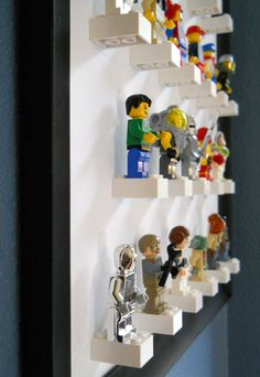 Lego Storage Ideas: The Ultimate Lego Organisation Guide Lego storage ideas & photos. How to organise lego by colour, size, set or purpose. Plus ideas on how to display Lego. The ultimate Lego storage guide! Deco Lego, Mini Figure Display, Lego Display, Lego Minifigure Display, Display Wall, Display Stands, Display Design, Display Ideas, Deco Kids