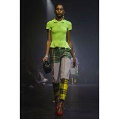 Funky tartan @balenciaga #pfw #balenciaga #ss18 #paris #fashionweek #tartan #green #lofficielnl (ph @nowfashion )  via L'OFFICIEL NL MAGAZINE INSTAGRAM - Fashion Campaigns  Haute Couture  Advertising  Editorial Photography  Magazine Cover Designs  Supermodels  Runway Models
