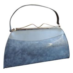 Kelly Bag Purse Vintage 1950's Shimmery Silver Gray from vfv on Ruby Lane
