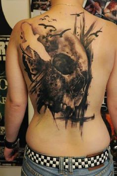 Skull Tattoos 61 - 80 Frightening and Meaningful Skull Tattoos   <3