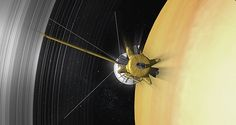 As the mission nears its end, NASA's probe will plunge into Saturn and meet its doom. The Cassini probe moves through Saturn's complex ring system. NASA/JPL-Caltech/Space Science Institute