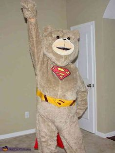 Super-Ted - Halloween Costume Contest via @costume_works