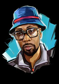 Famous Rap Stars illustrated by Russian Artist Viktor Miller-Gausa (Notorious B.I.G., Ice Cube, Eminem and more)