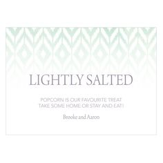 Ikat Large Card Open Format Table Sign Daiquiri Green (24)