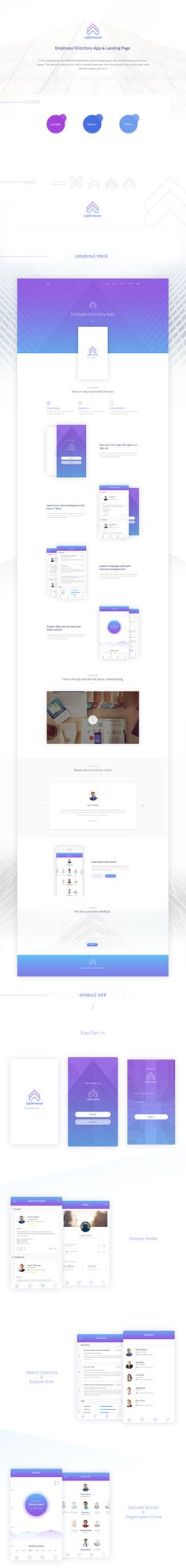 Hi,This is my new complete project. I have gone through from logo design to apps and landing page design. It is mainly an Employee Directory app. Have also a landing page. Hope you like my design and provide your valuable feed back. App Landing Page, Landing Page Design, Web Design, Logo Design, Graphic Design, Mobile App Design, Mobile Ui, User Experience Design, Application Design