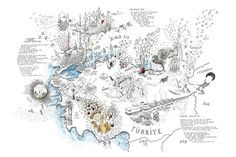 Drawn Upon Experience: Alex Hotchins' 'Borderless' Drawing For Kids, A 17, Storytelling, Art Projects, Vintage World Maps, Diagram, Romania, Drawings, Lens
