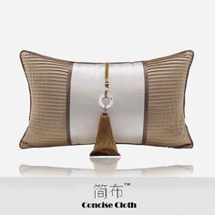 New Chinese Champagne Yellow Patchwork Cushion Cloth Hooded Pillow Sofa Model House Hotel Villa Creative High Waist Pillow