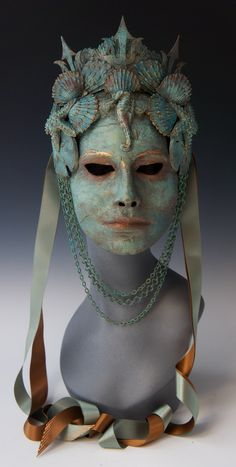 Amphitrite, Neptune's Queen by TheArtOfTheMask on Etsy https://www.etsy.com/listing/234274159/amphitrite-neptunes-queen