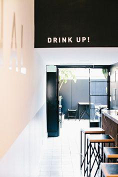 A modern juice bar by Bells & Whistles - Design Milk - Project / Alchemy Grandview - # Design Hotel, Restaurant Design, Juice Bar Interior, Cafe Interior, Cafe Bar, Commercial Design, Commercial Interiors, Hamburg Shops, Style Californien