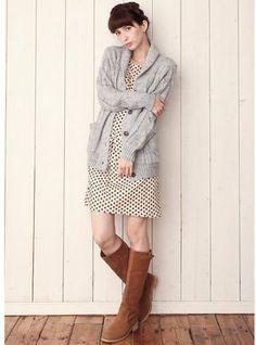 dolman sleeve dress / ShopStyle: 小紋柄ドルマンスリーブワンピース