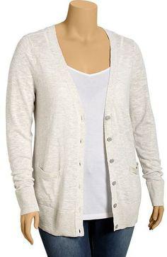Old Navy Women's Plus Slub-Knit Cardis on shopstyle.com