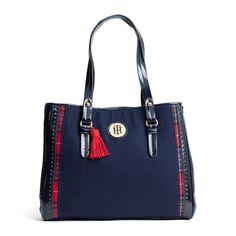 TH Spectator Tote bag - from Tommy Hilfiger Tommy Hilfiger Mujer, Tommy Hilfiger Store, Tommy Hilfiger Handbags, Tomi Hilfiger, Prada, Fashion Bags, Women's Fashion, Shoes 2015, Cute Bags