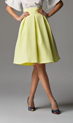 Πουά φούστα με πιέτες