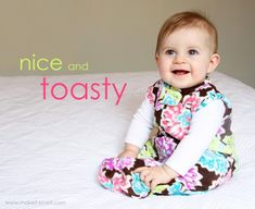 Make a Wearable Fleece Blanket for your baby/toddler.......and no longer worry about loose blankets falling off. www.makeit-loveit.com