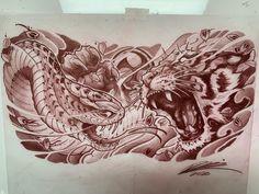 Chest Tattoo Sketches, Cool Chest Tattoos, Chest Tattoos For Women, Chest Piece Tattoos, Tattoo Drawings, Koi Dragon Tattoo, Japanese Dragon Tattoos, Japanese Tattoo Art, Japanese Sleeve Tattoos