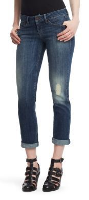 Kenneth Cole Straight-Fit Distressed Stiletto Jeans