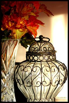 Pretty jar.. would make an amazing lamp. Love candles? Shop online at www.PartyLite.biz/NikkiHendrix