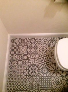 We welcome Friday with this project sent by a #HappyCustomer with our #HeritageGrey on the floor of a bathroom
