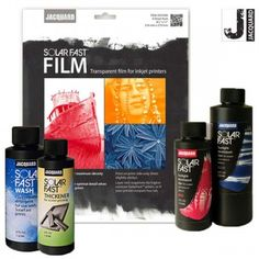 SolarFast Film may be used to print custom negatives on any inkjet printer. Custom - gives better results than any other film or acetate. Sun Painting, Fabric Painting, High School Drawing, Fast Print, Sepia Color, Golden Yellow Color, Cyanotype, Drawing Projects, Specialty Paper