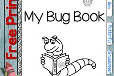Free Bug Book!! Fun kids' science project. Make the book and head outside.
