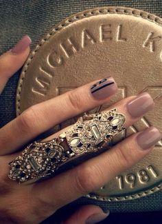 Full finger nail cover ring