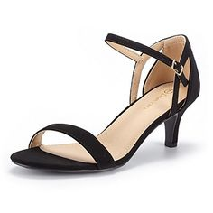 824a6c1bde7 DREAM PAIRS Women s LEXII Black Nubuck Fashion Stilettos Open Toe Pump Heel  Sandals Size 8.5 B