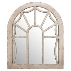 Window-inspired wall plaque with a weathered wood frame and mirrored panes.   Product: Wall plaqueConstruction Mater...