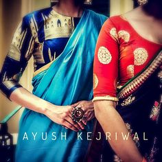 cool Saris by Ayush Kejriwal or purchases email me at designerayushkejr. Lakme Fashion Week, India Fashion, Women's Fashion, Fashion Design, Indian Blouse, Indian Sarees, Indian Attire, Indian Ethnic Wear, Ethnic Outfits