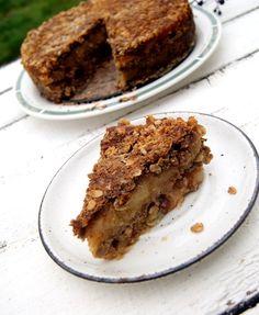 Szarlotka gryczana sypana, z platkami owsianymi Healthy Deserts, Healthy Sweets, Healthy Baking, Bakery Recipes, Snack Recipes, Dessert Recipes, Cooking Recipes, Healthy Recipes, Diet Desserts