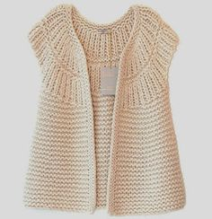 """Diy Crafts - Garter Yoke Vest Pattern (Knit) """"This post was discovered by Jul"""", """"Yarn and Patterns for Knitting and Crochet"""" Crochet Crocodile Stitch, Gilet Crochet, Crochet Cardigan Pattern, Vest Pattern, Knit Crochet, Crochet Patterns, Crochet Granny, Diy Crafts Knitting, Diy Crafts Crochet"""